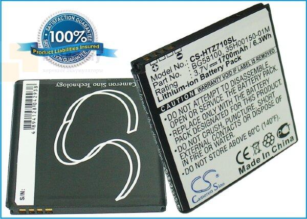 Аккумулятор CS-HTZ710SL для Vodafone Sensation 3,7V 1800Ah Li-ion