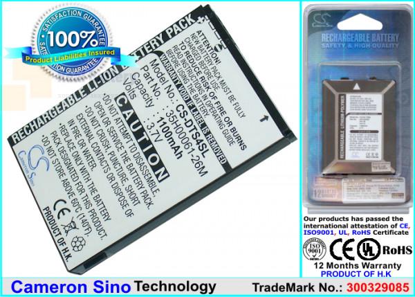 Аккумулятор CS-DTS4SL для T-Mobile MDA Basic 3,7V 1100Ah Li-ion