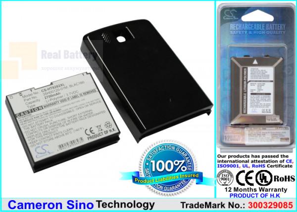 Аккумулятор CS-HT8282XL для T-Mobile Touch Pro HD 3,7V 2700Ah Li-ion