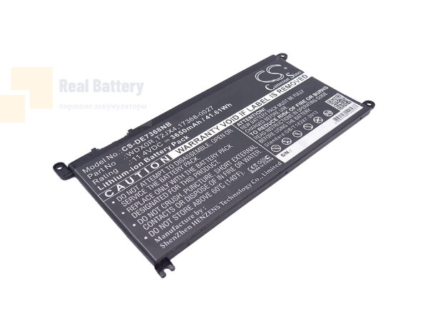 Аккумулятор CS-DE7368NB для DELL Dell INS 13MF PRO-D1708TS  11,4V 3650mAh Li-ion