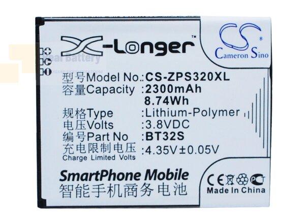 Аккумулятор CS-ZPS320XL для ZOPO ZP320 3,8V 2300Ah Li-Polymer