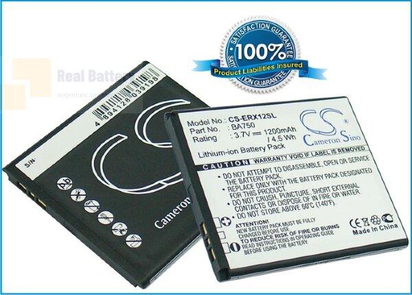 Аккумулятор CS-ERX12SL для Sony Ericsson acro 3,7V 1200Ah Li-ion