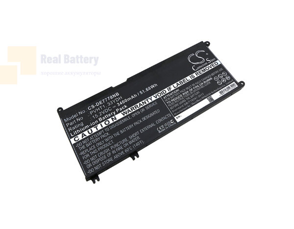 Аккумулятор CS-DE7778NB для DELL DNCWSCB6106B  15,2V 3400mAh Li-ion