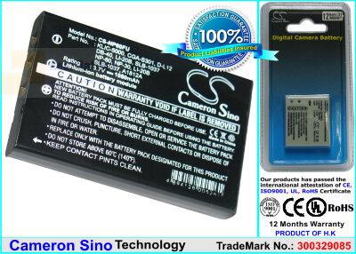 Аккумулятор CS-NP60FU для VIVITAR DVR-390H 3,7V 1050Ah Li-ion