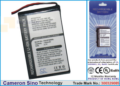 Аккумулятор CS-BT300SL для HP BT GPS 3,7V 1000Ah Li-ion