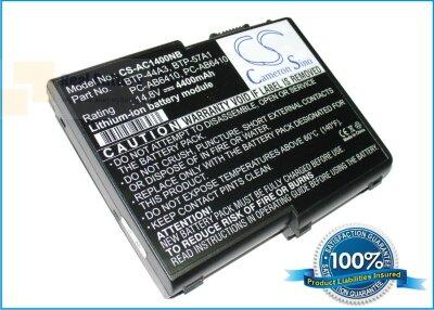 Аккумулятор CS-AC1400NB для Acer Aspire 1200(MS2111)  14,8V 4400mAh Li-ion