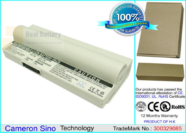 Аккумулятор CS-AUA2HB для Asus Eee PC 2G Linux  7,4V 6600mAh Li-ion