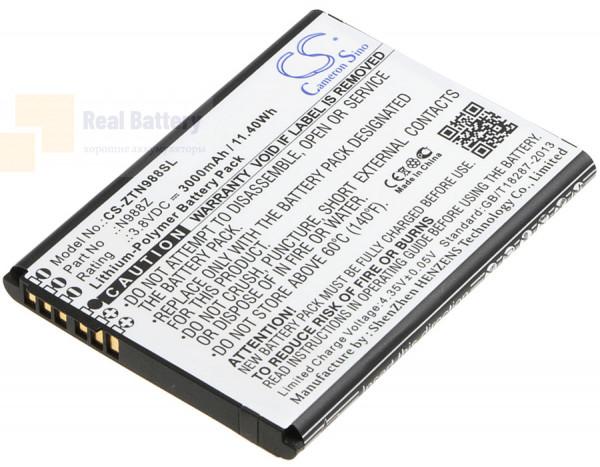 Аккумулятор CS-ZTN988SL для ZTE N988Z 3,8V 3000Ah Li-Polymer
