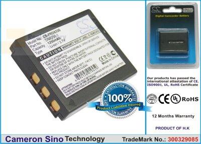 Аккумулятор CS-PRD8330 для VIVITAR DP8300 3,7V 1250Ah Li-ion