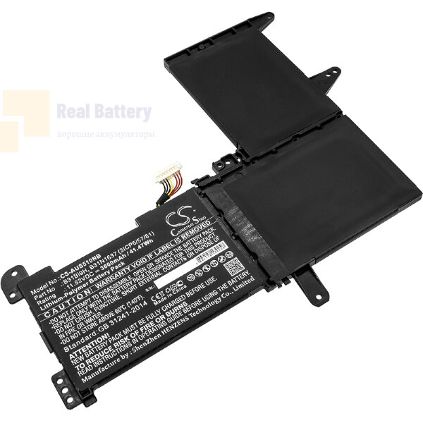 Аккумулятор CS-AUS510NB для Asus N580GD  11,52V 3600mAh Li-Polymer