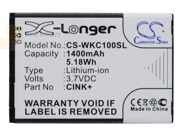 Аккумулятор CS-WKC100SL для Wiko Cink 3,7V 1400Ah Li-ion