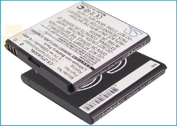 Аккумулятор CS-ZTU830SL для ZTE Blade C2 3,7V 1200Ah Li-ion
