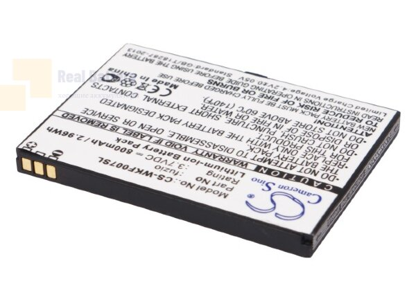 Аккумулятор CS-WKF007SL для Wiko FUZIO 3,7V 800Ah Li-ion