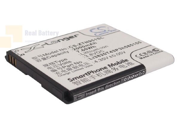 Аккумулятор CS-ZTN951SL для ZTE Blade G 3,8V 2000Ah Li-ion