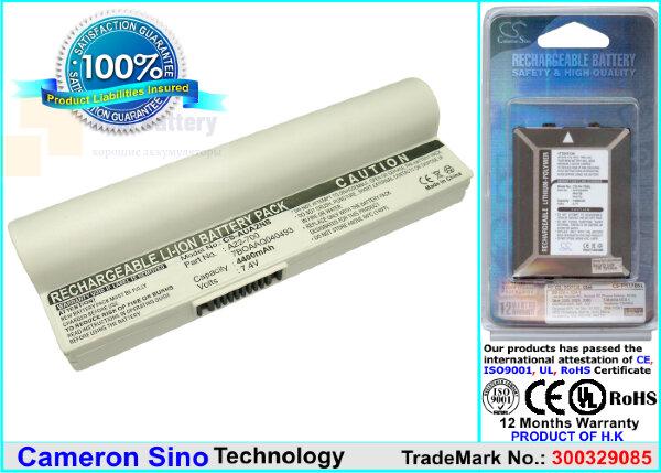 Аккумулятор CS-AUA2NB для Asus Eee PC 2G Linux  7,4V 4400mAh Li-ion