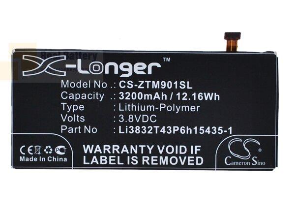 Аккумулятор CS-ZTM901SL для ZTE Grand M901C 3,8V 3200Ah Li-Polymer