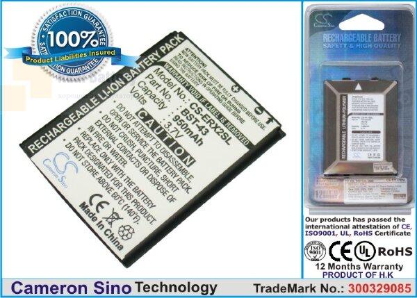 Аккумулятор CS-ERX2SL для Sony Ericsson Cedar J108 3,7V 950Ah Li-ion