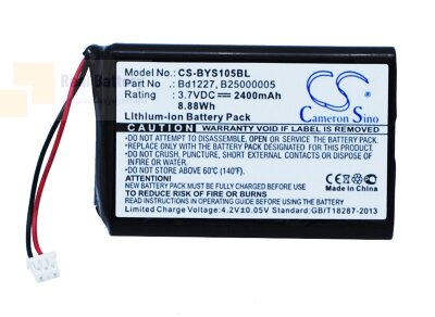Аккумулятор CS-BYS105BL для Baracoda B40160100 3,7V 2400Ah Li-ion