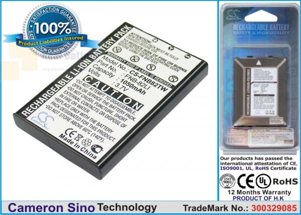 Аккумулятор CS-FNB82TW для SystemGear MET-1000 3,7V 1050Ah Li-ion