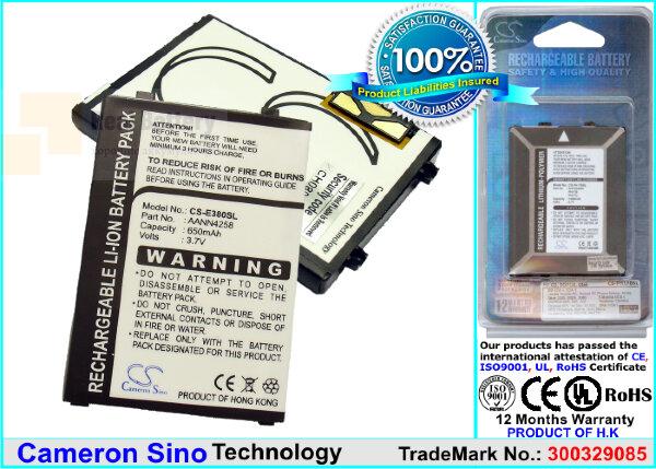 Аккумулятор CS-E380SL для Tchibo Fotohandy 302 3,7V 650Ah Li-ion