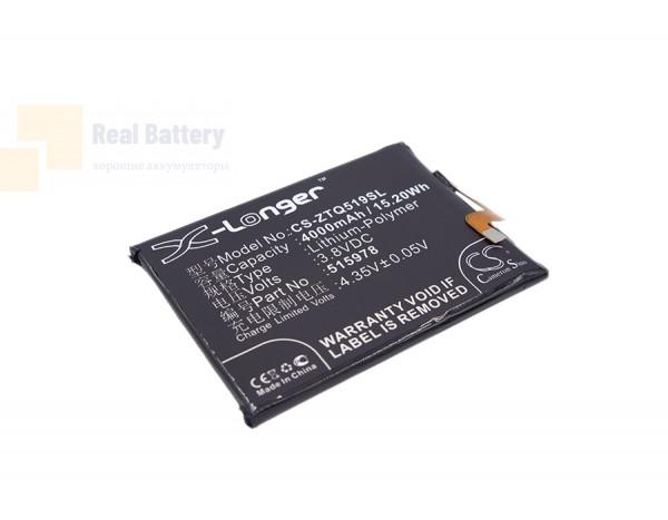 Аккумулятор CS-ZTQ519SL для ZTE Blade A452 3,8V 4000Ah Li-Polymer