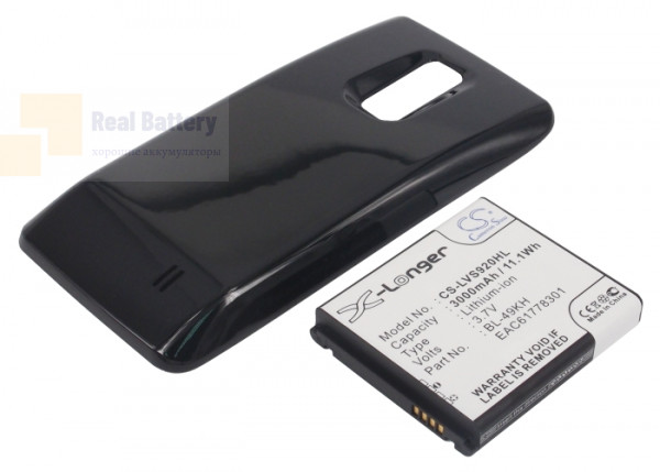 Аккумулятор CS-LVS920HL для Verizon Spectrum 3,7V 3000Ah Li-ion