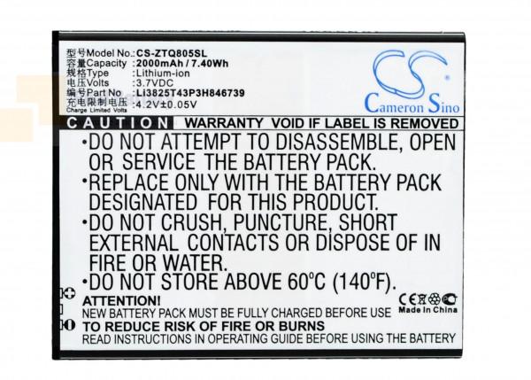Аккумулятор CS-ZTQ805SL для ZTE Q805T 3,7V 2000Ah Li-ion