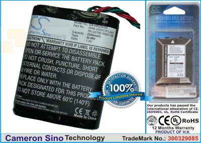 Аккумулятор CS-HR250SC для Panasonic HHR-250SCH L2x3 7,2V 2500Ah Ni-MH