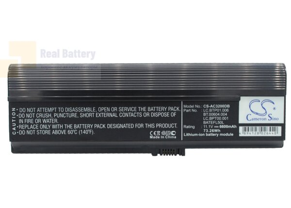 Аккумулятор CS-AC3200DB для Acer TravelMate 3000  11,1V 6600mAh Li-ion