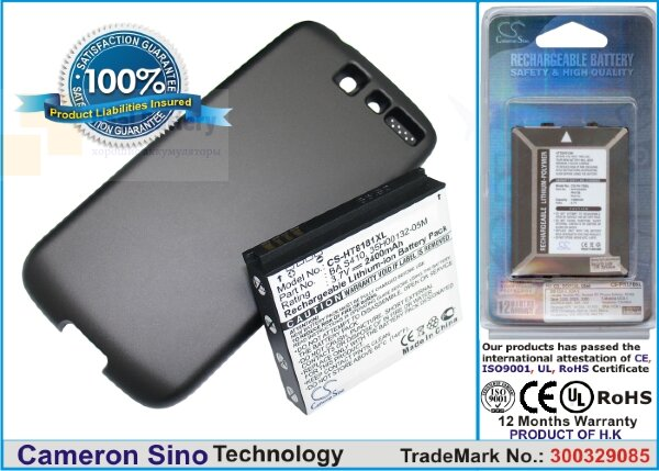 Аккумулятор CS-HT8181XL для SoftBank X06HT 3,7V 2400Ah Li-ion