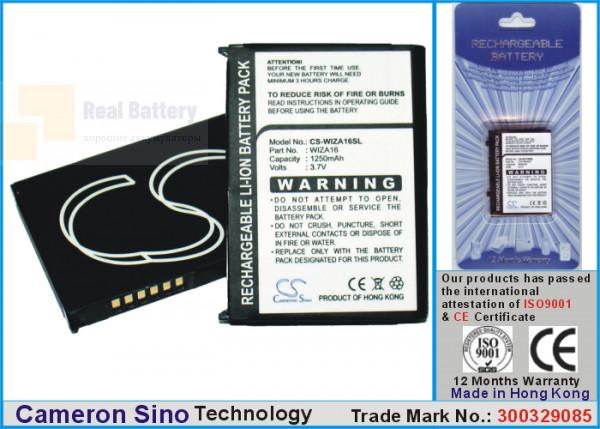 Аккумулятор CS-WIZA16SL для Vodafone VPA Compact II 3,7V 1250Ah Li-ion