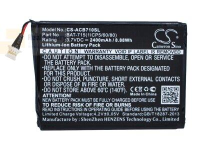 Аккумулятор CS-ACB710SL для Acer Iconia B1-A71 3,7V 2400Ah Li-ion