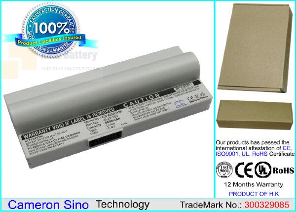 Аккумулятор CS-AUA7HB для Asus Eee PC 701SD  7,4V 6600mAh Li-ion