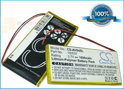 Аккумулятор CS-AVS4SL для Archos 43 Vision 3,7V 1600Ah Li-Polymer