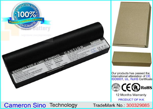 Аккумулятор CS-AUA7NT для Asus Eee PC 701SD  7,4V 4400mAh Li-ion
