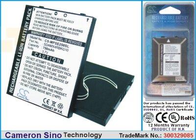 Аккумулятор CS-MPSE250SL для SanDisk Sansa E200 3,7V 750Ah Li-ion
