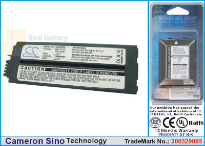Аккумулятор CS-CP2L для Canon Selphy CP- 500 22,2V 1200Ah Li-ion