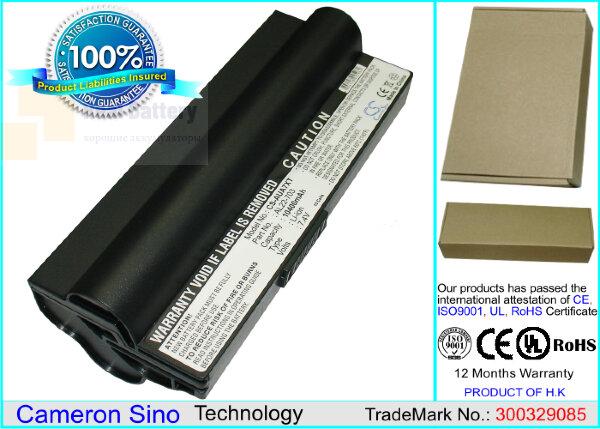 Аккумулятор CS-AUA7XT для Asus Eee PC 701SD  7,4V 10400mAh Li-ion