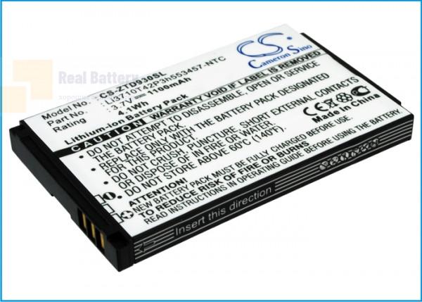 Аккумулятор CS-ZTD930SL для ZTE Chorus 3,7V 1100Ah Li-ion