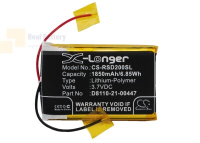 Аккумулятор CS-RSD200SL для Roberts Sports Dab2 3,7V 1850Ah Li-Polymer