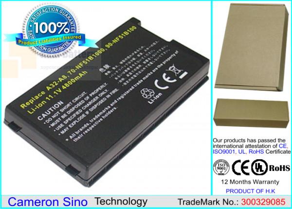 Аккумулятор CS-AUA8NB для Asus A8  11,1V 4400mAh Li-ion