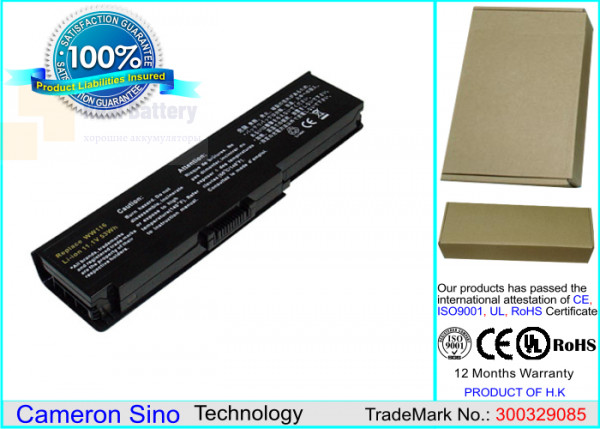 Аккумулятор CS-DE1420NB для DELL Inspiron 1420  11,1V 4400mAh Li-ion