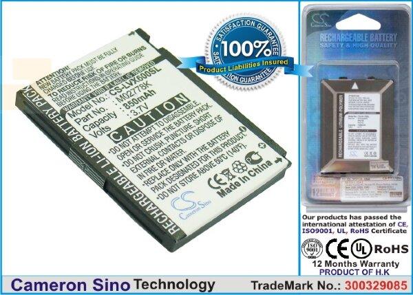 Аккумулятор CS-LVX600SL для Sprint Lotus LX600 3,7V 850Ah Li-ion