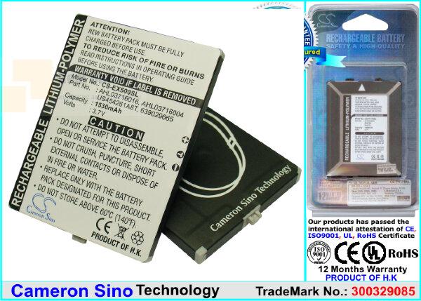 Аккумулятор CS-EX500SL для UTStarcom P903 3,7V 1530Ah Li-Polymer