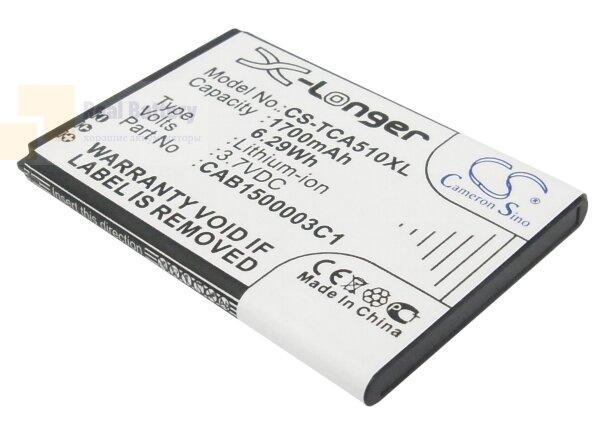 Аккумулятор CS-TCA510XL для TCL A510 3,7V 1700Ah Li-ion