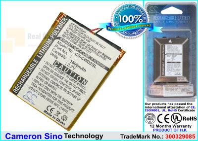 Аккумулятор CS-CWD2SL для Cowon D2 2GB 3,7V 1800Ah Li-ion
