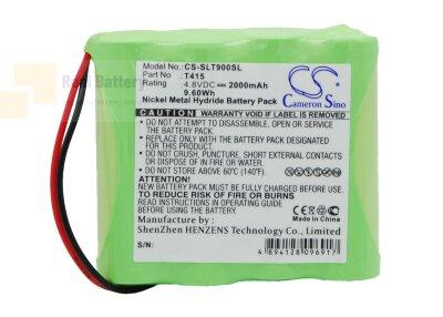 Аккумулятор CS-SLT900SL для Schaub Lorentz TL900 4,8V 2000Ah Ni-MH