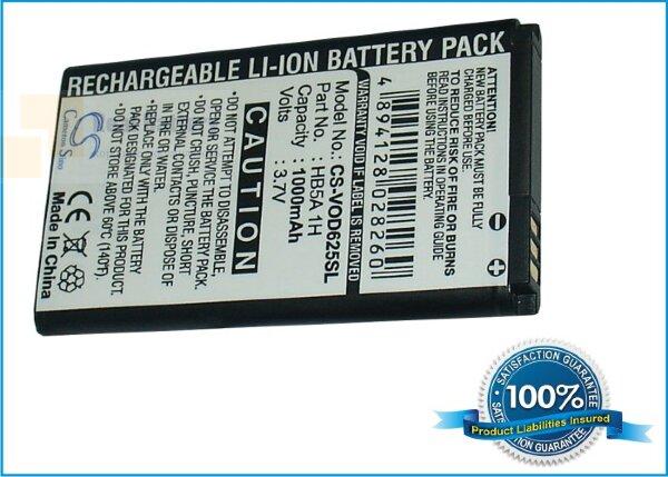 Аккумулятор CS-VOD625SL для Vodafone V625 3,7V 1000Ah Li-ion
