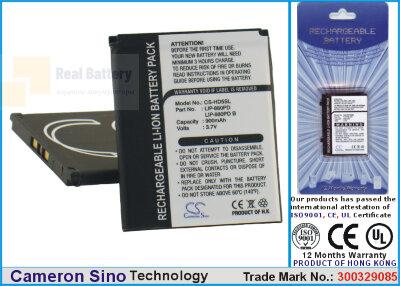 Аккумулятор CS-HD5SL для Sony Atrac AD 3,7V 980Ah Li-ion