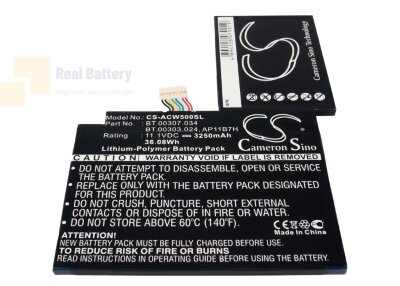 Аккумулятор CS-ACW500SL для Acer Iconia Tab W500 11,1V 3250Ah Li-Polymer